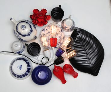 "Kabel ""Glaze"", E27, schwarzes Porzellan – Bild 5"