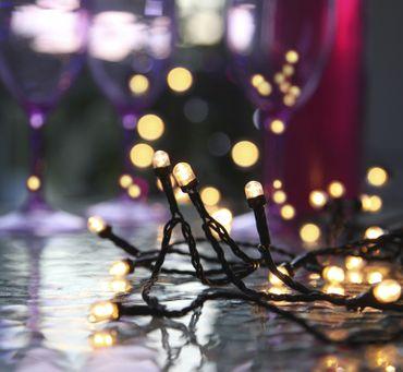 "LED-Party-Kette ""Cherry"", 80-teilig, Farbe warmwhi – Bild 1"