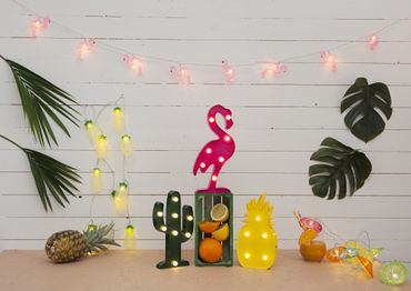 "LED-Party-Kette ""Partylight Flamingo"", 10teilig – Bild 7"