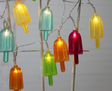 "LED-Party-Kette ""Partylight Popsicle"", 10teilig – Bild 5"