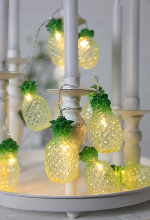 "LED-Party-Kette ""Partylight Pineapples"", 10teilig – Bild 4"
