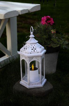LED-Solarlaterne, 1 warmwhite LED, – Bild 1