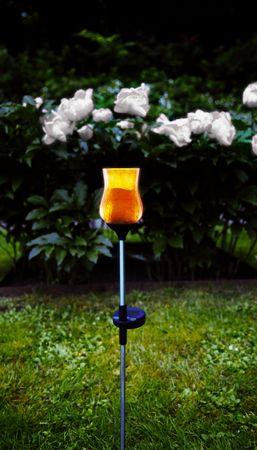 "LED-Solar-Stab ""Lyon"" mit Glas, silber /amber, ink – Bild 3"