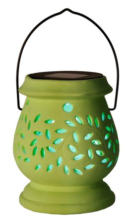 "LED-Solar-Laterne ""Clay Lantern"", grün – Bild 2"