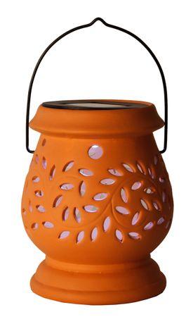 "LED-Solar-Laterne ""Clay Lantern"", terracotta – Bild 2"