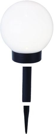 LED-Solar-Kugel,weiss, ca.15 cm Ø, – Bild 1