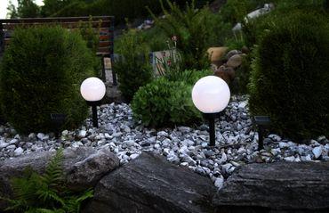 LED-Solar-Kugel,weiss, ca.15 cm Ø, – Bild 4