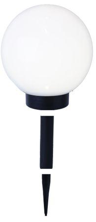 LED-Solar-Kugel,weiss, ca.20 cm Ø, – Bild 1