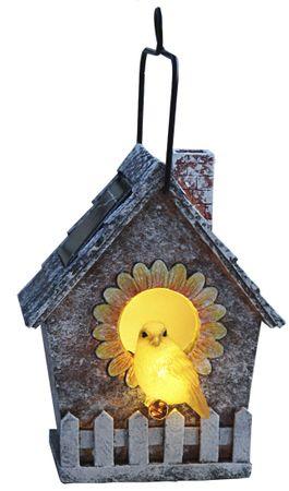LED-Solar-Vogelhaus, ca. 16 x 13 cm – Bild 1