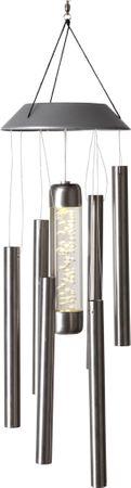 LED-Solar-Windspiel, Edelstahl, 1 warm white LED – Bild 1
