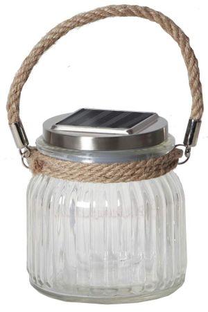 """LED-Solar-Leuchte """"Glass Jar"""", mit Sisalhänger – Bild 1"""
