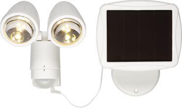 """LED-Solarspot """"Powerspot"""", weiss,2x 3 LED, Bewegun – Bild 1"""