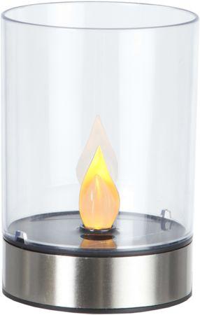 LED-Solar-Windlicht, Edelstahl, 1 amber LED – Bild 1