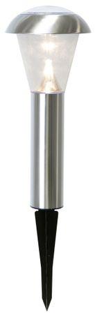 LED-Solar-Wegleuchte, Edelstahl, ca. 36 x 15 cm – Bild 2