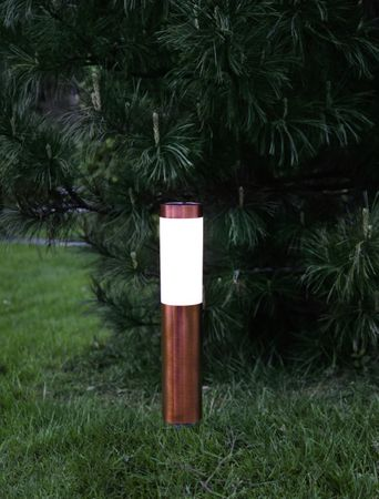 LED-Solar-Wegleuchte, Edelstahl, ca. 40 x 8 cm – Bild 2