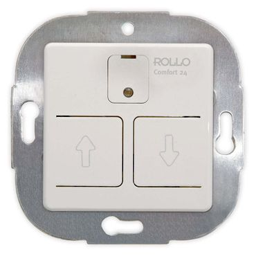 Elektronischer Jalousieschalter 24 h-Automatik, programmierbar, Einbaugerät reinweiß