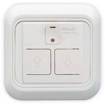 Elektronischer Jalousieschalter 24/7-Automatik, programmierbar, Komplettgerät reinweiß