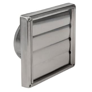 Jalousie-Verschlusskappe mit Lamellen, Ø 100 mm, Edelstahl