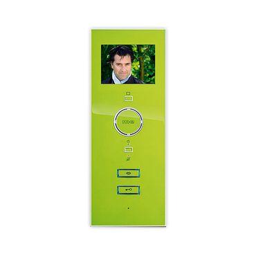Video-Türsprechanlage Innenstation mit Freisprechfunktion, weiß/apfelgrün, VDV 503 W-AG
