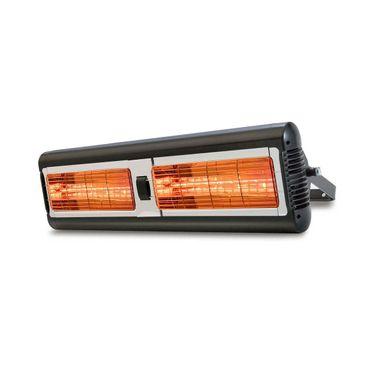 "Infrarot Quarz-Heizstrahler Sorrento Double IP55 ""Professional"" schwarz, 2 x 1,5 kW"