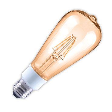 LED Filament Birne 4,5 W, 2400K, dimmbar, E27, bernstein – Bild 1