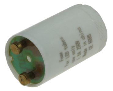 """Dieser """"Starter"""" für LED Röhren ist technisch gesehen gar keiner, sondern lediglich eine Drahtbrücke im Startergehäuse, da LED Röhren im Gegensatz zu Neonröhren eben keinen solchen benötigen, der Neon-Star"""