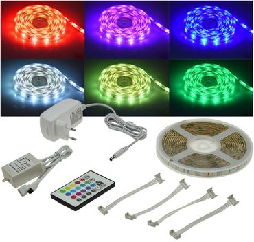 "RGB LED-Stripe Set 5m ""RGB-500 Indoor"" – Bild 1"