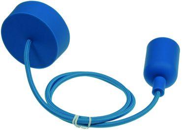 """E27  Lampenaufhängung """"Silikon"""" blau"""