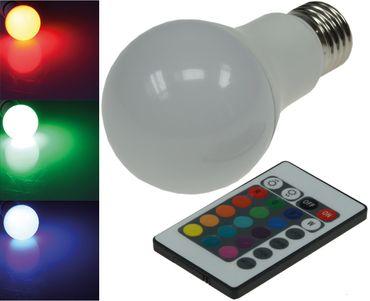 LED Glühlampe E27 RGBW mit Fernbedienung – Bild 1