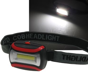 "LED-Stirnlampe ""HeadLight COB"" 3W – Bild 1"