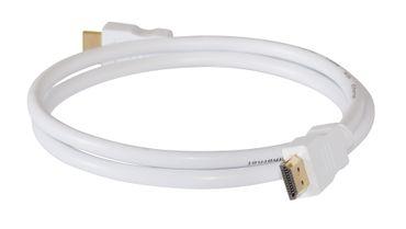 HDMI-Kabel Stecker-Stecker 1,0m weiss – Bild 1