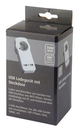 Schuztkontakt-Adapter mit USB (5V / 3A) – Bild 2