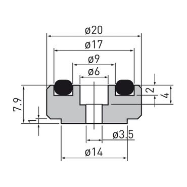 Dynavox Aluminium Gerätefüsse mini – Bild 4
