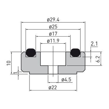 Dynavox Aluminium Gerätefüsse midi – Bild 4