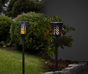 """LED-Solar-Fackel """"Flame"""", imitiert Feuer,amber LED – Bild 7"""