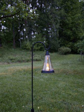 "LED-Solar-Windlicht ""Pisa"",Kunststoff, 1 amber Led – Bild 9"