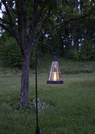 "LED-Solar-Windlicht ""Pisa"",Kunststoff, 1 amber Led – Bild 10"