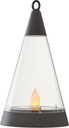 "LED-Solar-Windlicht ""Pisa"",Kunststoff, 1 amber Led – Bild 3"