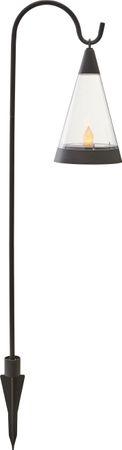 "LED-Solar-Windlicht ""Pisa"",Kunststoff, 1 amber Led – Bild 1"