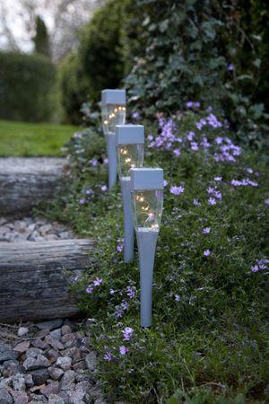 "LED-Solar-Pathlights ""Hellas"", 3er Set, 27x5cm – Bild 4"