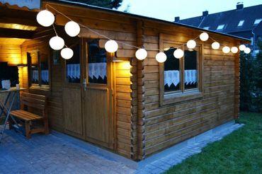 15 XXL LAMPION PARTYLICHTERKETTE 6,5m WARMWEIßE LEDs LICHTER – Bild 3