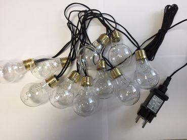 Lichterkette 10 Leuchten im Glühbirnendesign mit 50 LED – Bild 3