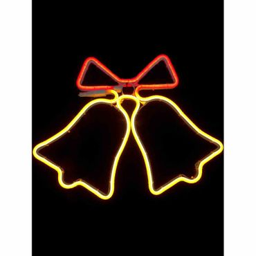 2m Neon Lichtschlauch Silhouette Glocke, 96 LED/Meter Größe: 44 x 43cm, 5m Zuleitung, IP44 Stecker – Bild 2