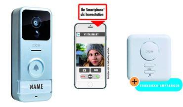 m-e modern-electronics 41153 IP-Video-Türsprechanlage WLAN Außeneinheit, Netzteil, Zusatz-Gong – Bild 1