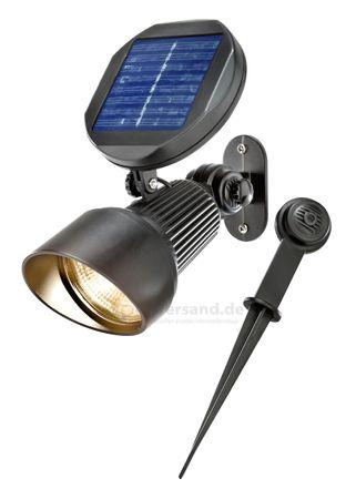 Solar Spotlight Lichtfarbe 2800K warmweiß Wand oder Bodenmontage, 102136 – Bild 1