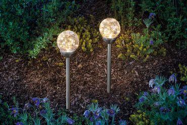 "Solar Gartenstecker""Golden Balls"" im 2er-Set esotec 102312 – Bild 4"