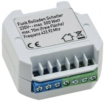 "SmartHome Funkschalter Serie""Pilota Casa"" 433,92Mhz, max. 100m LED Funktionsanzeige einfaches anlernen I versch. Komponenten (Funk Rolladen Steuerung) – Bild 2"
