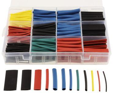 Schrumpfschlauch-Sortiment 560-teilig, Schrumpfrate 2:1, 45mm lang, 11 Größen, 5 Farben Bunt – Bild 1