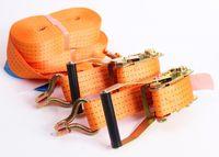 2 x Zurrgurt Spanngurt 2 tlg 8m 4 t orange Ratsche Ladungssicherung LKW Anhänger