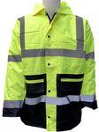 Regen-Parka Regenjacke Jacke Warnschutz Warnkleidung Atmungsaktiv Wasserdicht